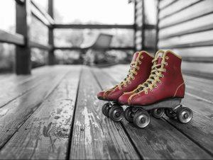 pattini a rotelle per pattinaggio artistico